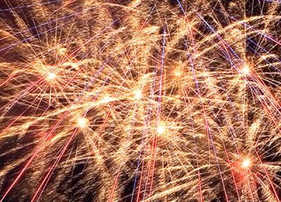 Feuerwerke und Lasershows